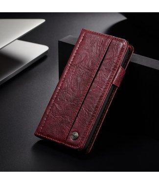 Caseme Leren Wallet Case - Iphone XS Hoesje - Rood - Caseme