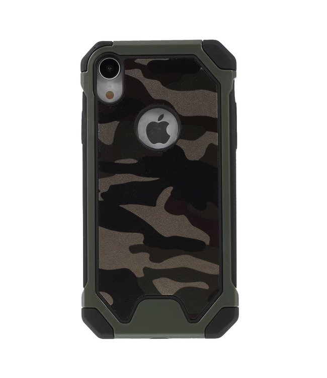 ZWC Camouflage Softcase - Iphone XR Hoesje - Groen
