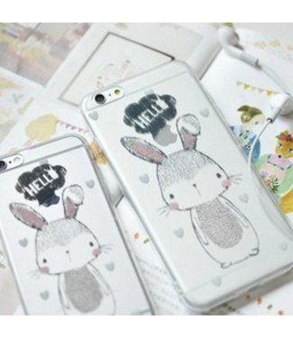 Maoxin TPU Softcase - iPhone 6(s) - Hello Konijntje - Maoxin