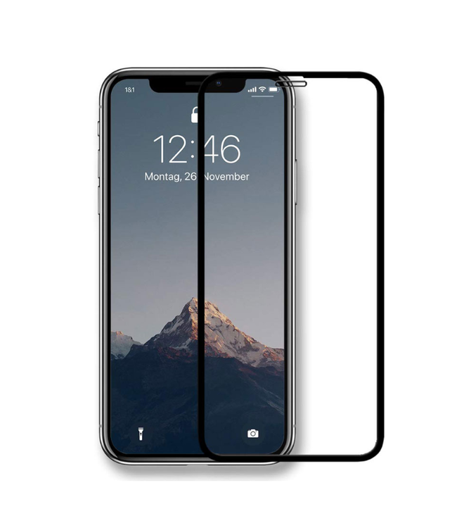 ZWC 3D Glass Screen Protector - Iphone XR - Zwarte omranding