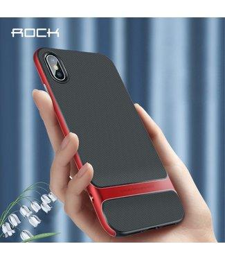 Rock Softcase - Iphone X/XS Hoesje - Zwart/Rood