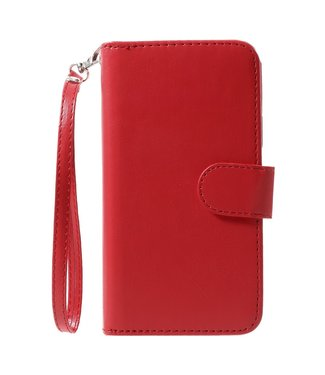 Crazy Horse 2-in-1 Wallet Case - Iphone X/XS Hoesje - Rood - Crazy Horse