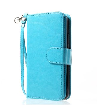 Crazy Horse 2-in-1 Wallet case - Iphone X/XS Hoesje - Blauw - Crazy Horse