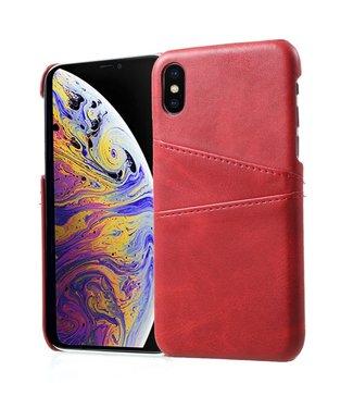 ZWC Leren Hardcase - Iphone X/XS Hoesje - Rood