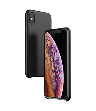 Baseus Siliconen Hardcase - Iphone XS Hoesje - Zwart - Baseus