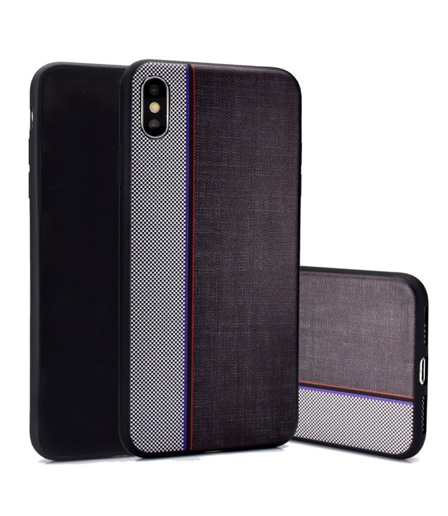 ZWC TPU Backcover - iPhone X/Xs - Jeansstof Print
