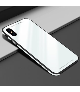 Sulada Tempered Glass + TPU + Metalen  Backcase - iPhone X/Xs - SULADA