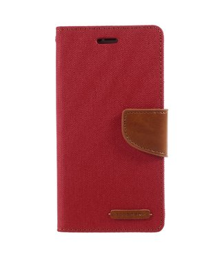Goospery Canvas Diary - Iphone X/XS Hoesje - Rood - Goospery