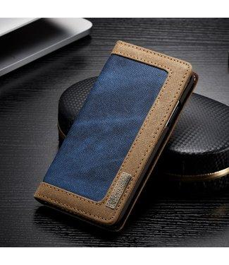 Caseme Bookcase - Iphone X/XS Hoesje - Blauw