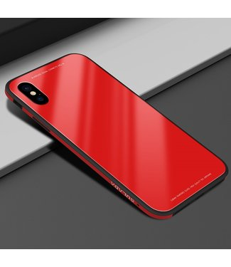 Sulada Tempered Glass Case - Iphone X / Xs Hoesje - Rood - Sulada