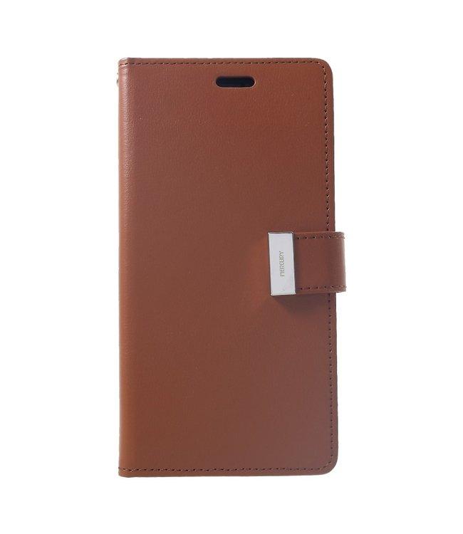 Goospery Rich Diary - Iphone XS Max Hoesje - Bruin - Goospery