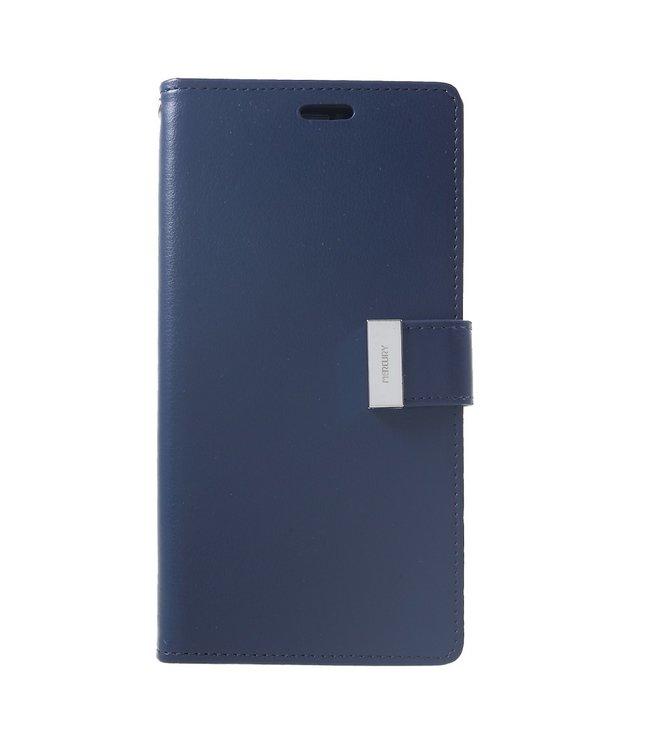 Goospery Rich Diary - Iphone XS Max Hoesje - Blauw - Goospery