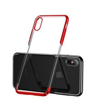 Baseus Hardcase - Iphone XS Max Hoesje - Rode omranding - Baseus