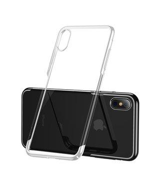 Baseus Hardcase - Iphone XS Max Hoesje - Witte Omranding - Baseus