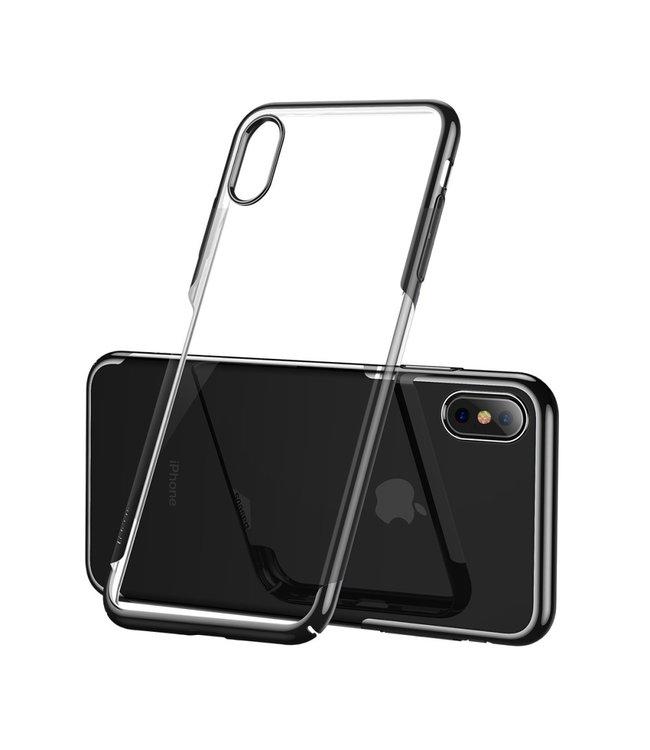 Baseus Hardcase - Iphone XS Max Hoesje - Zwarte Omranding - Baseus