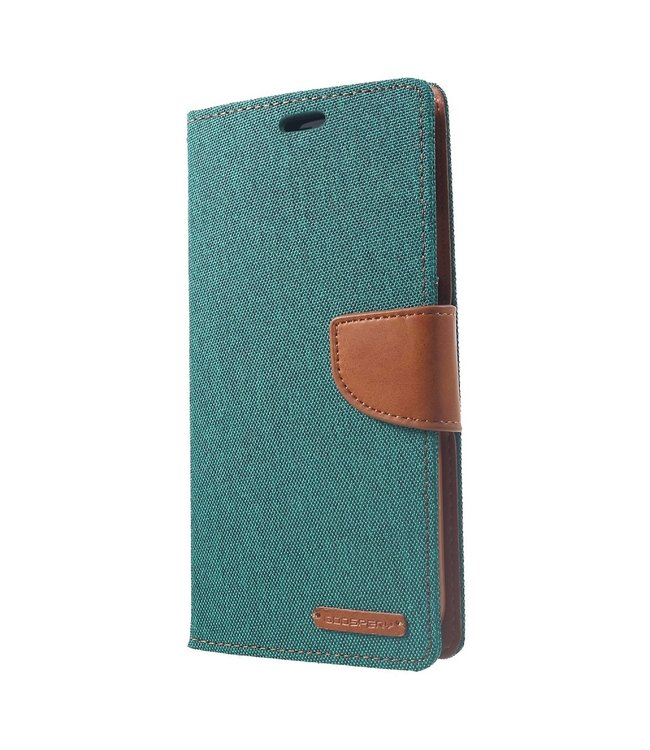 Goospery Canvas Diary - Iphone XS Max Hoesje - Groen - Goospery