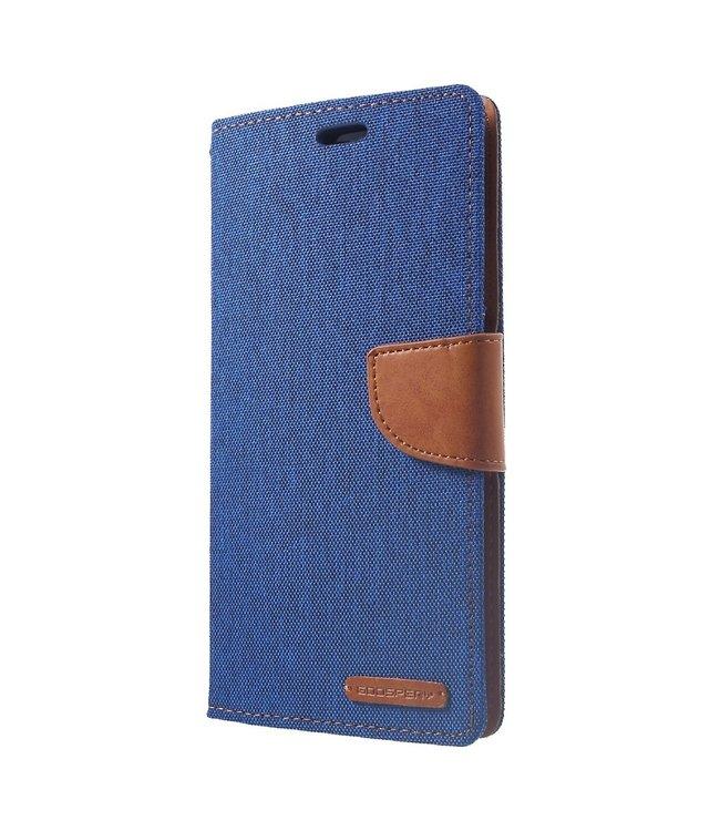 Goospery Canvas Diary - Iphone XS Max Hoesje - Blauw - Goospery