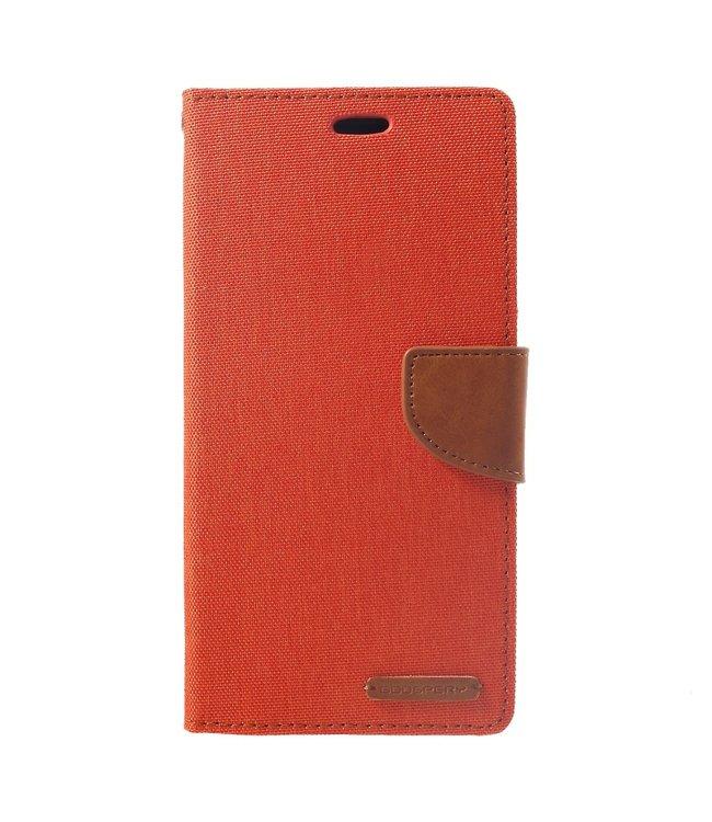 Goospery Canvas Diary - Iphone XS Max Hoesje - Oranje - Goospery