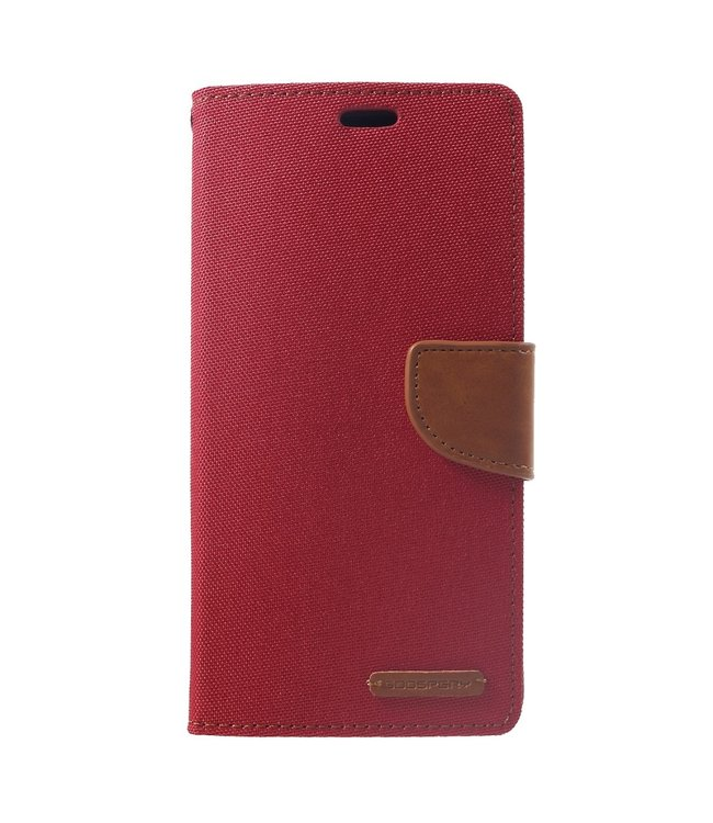 Goospery Canvas Diary - Iphone XS Max Hoesje - Rood - Goospery
