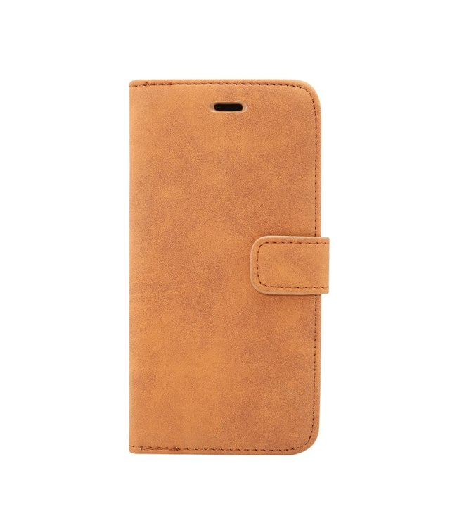 ZWC Retro Leren Bookcase - Iphone XS Max Hoesje - Bruin