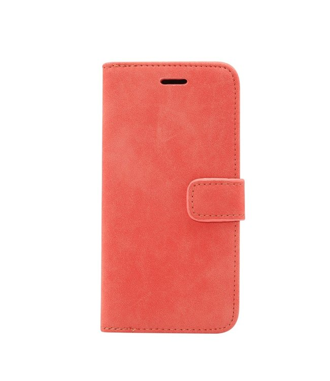 ZWC Retro Leren Bookcase - Iphone XS Max Hoesje - Rood