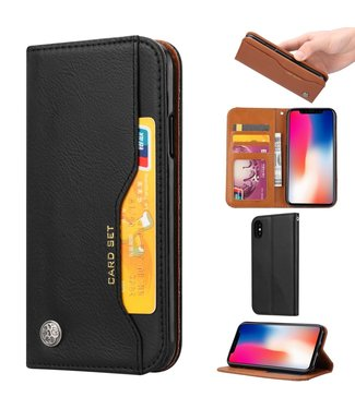 Caseme Leren Book Case - Iphone XS Max Hoesje - Zwart - Caseme