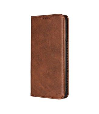 ZWC Leren Book Case - Iphone XS Max Hoesje - Bruin