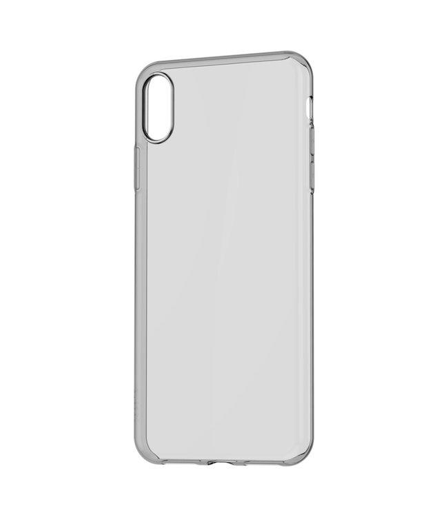 Baseus TPU Softcase - Iphone XS Max Hoesje - Transparant Zwart - Baseus