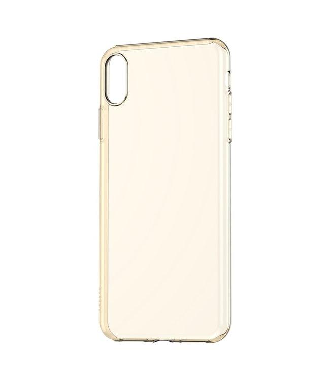Baseus TPU Softcase - Iphone XS Max Hoesje - Transparant Goud - Baseus