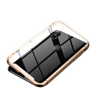 Baseus Magnetische Hardcase - Iphone XS Max Hoesje - Goud - Baseus