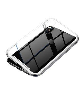 Baseus Magnetische Hardcase - Iphone XS Max Hoesje - Zilver - Baseus