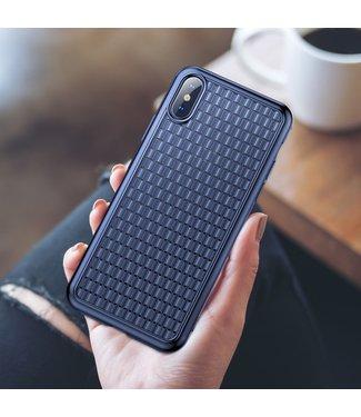 Baseus Weaving Softcase - Iphone XS Max Hoesje - Blauw - Baseus