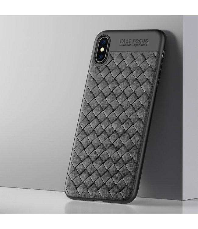 ZWC TPU Softcase - Iphone XS Max Hoesje - Zwart - Usams