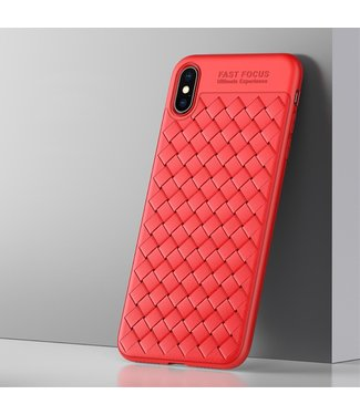 ZWC TPU Softcase - Iphone XS Max Hoesje - Rood - Usams