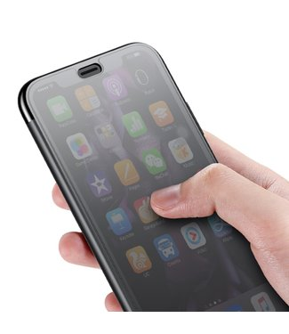 Baseus View Window Touchable Plastic - Iphone XS Max Hoesje - Zwart - Baseus
