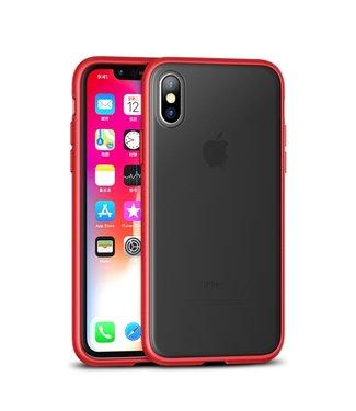 iPaky Quality Hardcase - Iphone XS Max Hoesje - Zwart/Rood - Ipaky