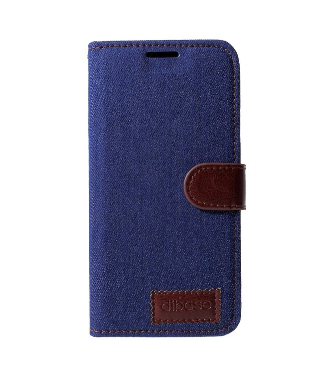 ZWC Leren Jeans Book Case - Iphone XR - Donkerblauw - Dibase