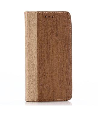 ZWC Wood Book Case - Iphone XS Max Hoesje - Bruin