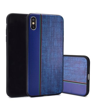 ZWC Jeans Softcase - Iphone XS Max Hoesje - Blauw