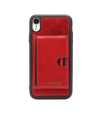 ZWC Card Holder Softcase - Iphone XS max Hoesje - Rood - Pierre Cardin