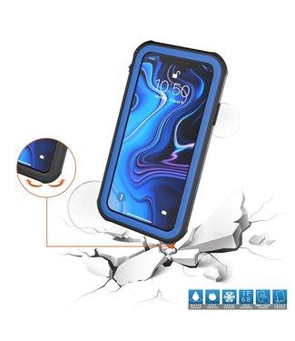 ZWC Waterproof iPhone Xs MAX hoesje - 3M - Blauw - IP68
