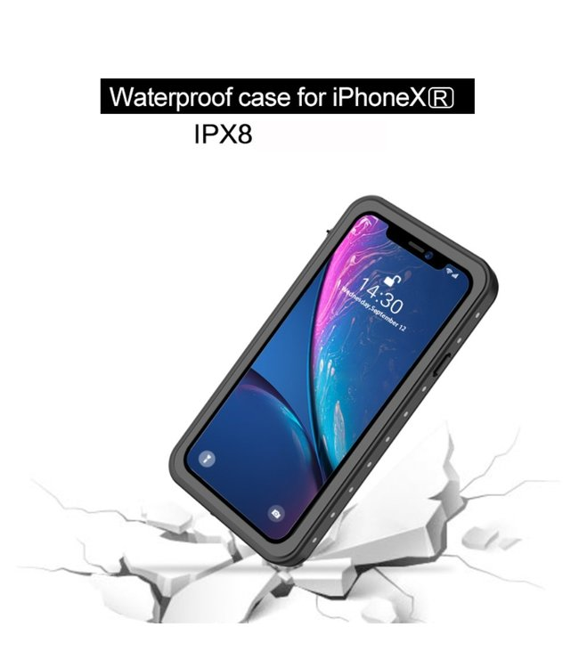 ZWC Waterproof cover iPhone Xr -  2M - Zwart/Transparant