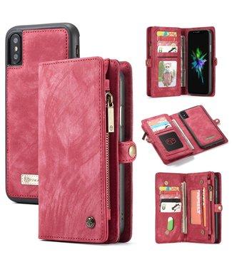 Caseme CASEME LUXE LEREN WALLET IPHONE XS MAX 6.5 inch  - ROOD / ROZE - CASEME