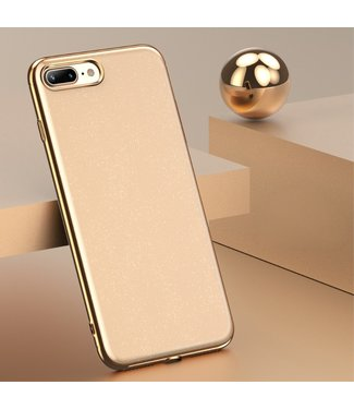 ZWC Goud look hardcase voor uw iPhone 7 plus / iPhone 8 plus beschermt de achterzijde van uw iPhone