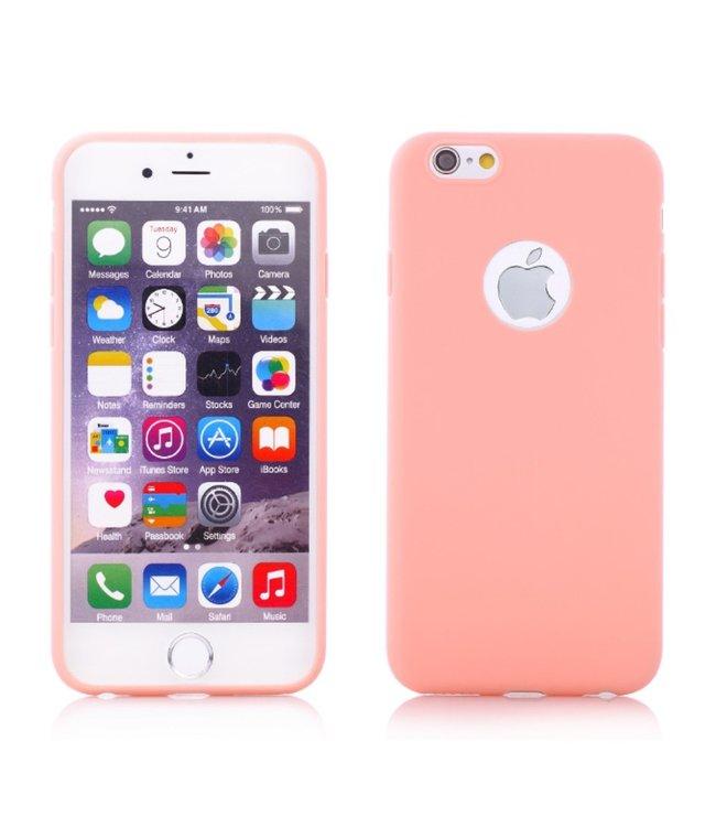 ZWC Zachte effen roze back cover softcase voor iPhone 6 / iPhone 6s