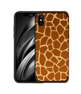 NXE Softcase voor iphone XS  met giraf textuur