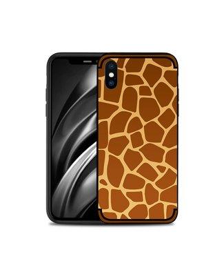NXE Softcase voor iphone XS max 6.5 inch met giraf textuur