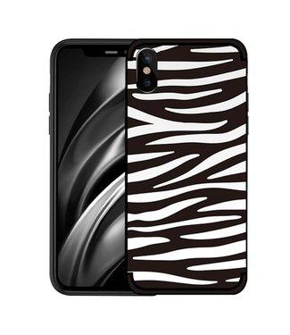NXE Softcase voor iphone XS  met zwart witte zebra print
