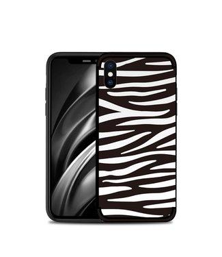 NXE Softcase voor iphone XS max met zwart witte zebra print