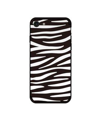 NXE Softcase voor iPhone 7/8/SE 2020  met zwart witte zebra print